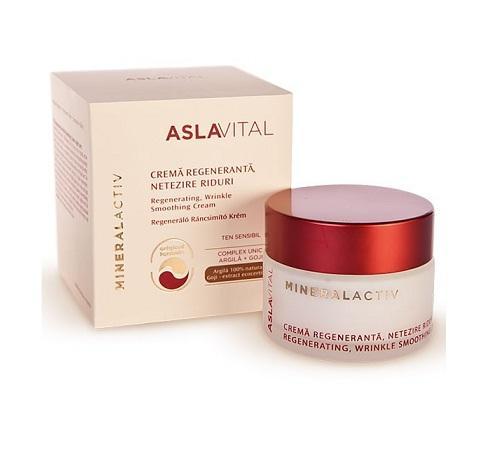 Aslavital Mineral Activ Crema Regeneranta Netezire Riduri 50ml
