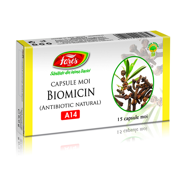 Fares Biomicin Antibiotic Natural A14 15 capsule moi