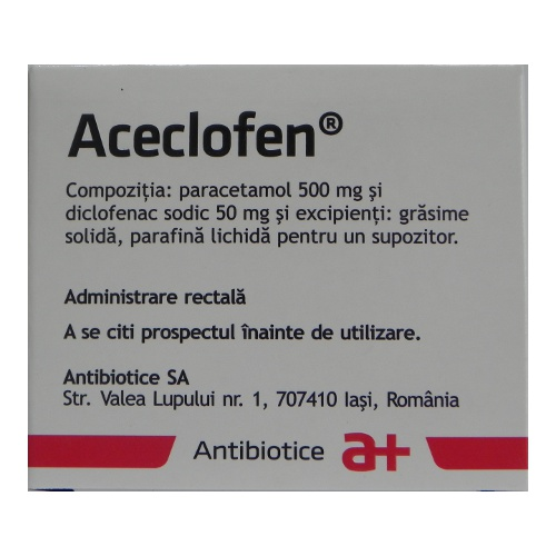 ACECLOFEN x 6 SUPOZ FARA CONCENTRATIE ANTIBIOTICE SA